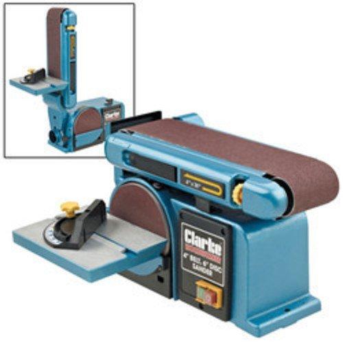 """Clarke CS4-6D Woodwork Carpenters 4"""" x 6"""" Belt DISC and Sander 6500412"""