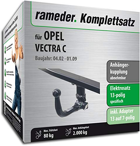 Rameder Komplettsatz, Anhängerkupplung abnehmbar + 13pol Elektrik für OPEL Vectra C (117026-04865-1)