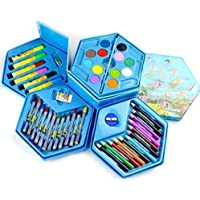 Little Crafts Art Set,Colors Box,Color Pencil,Crayons, Water Color, Sketch Pens Set of 46 Pieces for Kids Best Birthday…
