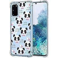 Suhctup Compatible con Samsung Galaxy S7 Edge Funda para Silicona Transparente con Dibujos Panda Diseño Patrón Cárcasa Ultra-Fina Suave TPU Choque Cojín de Esquina Parachoque Caso-Panda 3