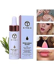 OYOTRIC 24k Rose Or Elixir Face Lip Fondation Liquide Huiles Hydratantes Huile Essentielle