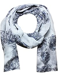 Women Scarf Roses Print Design Lightweight Scarves for Lady