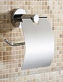 QMM Bad-Accessoires,WC-Rollenhalter,Modern Chrom Wandmontage