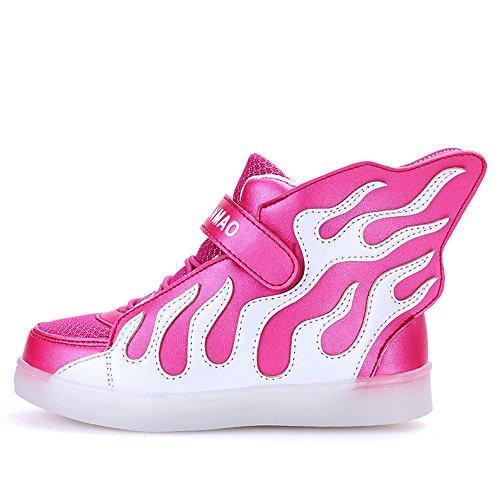 QOUJEILY , Mädchen Sneaker Rot