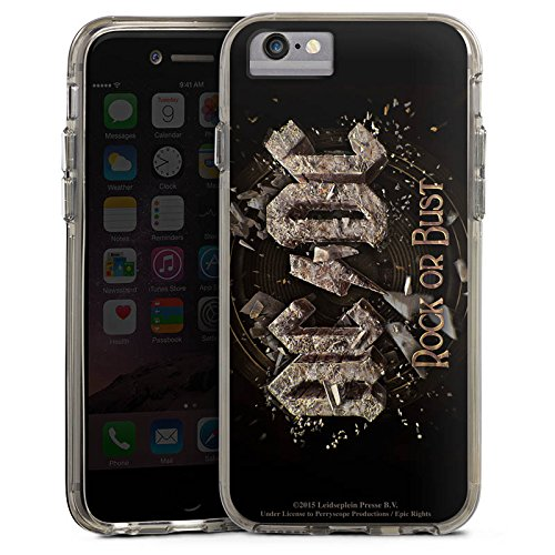 Apple iPhone 6s Plus Bumper Hülle Bumper Case Glitzer Hülle Acdc Merchandising Pour Supporters Merchandise Fanartikel Bumper Case transparent grau