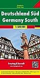 Alemania sur, mapa de carreteras. Escala 1:500.000. Freytag & Berndt. (Auto karte)