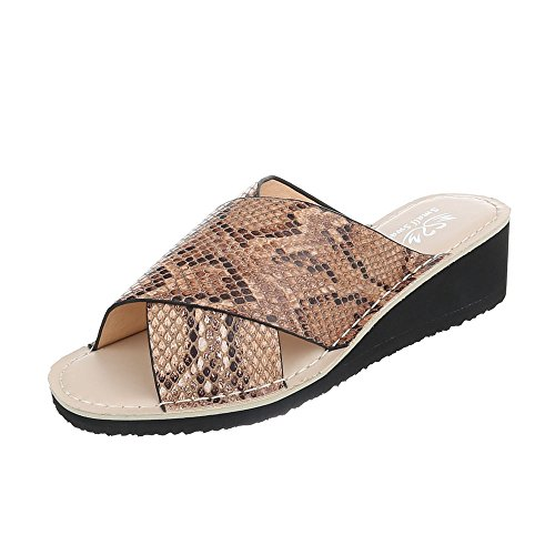 Ital-Design - Jazz & moderno Donna Camel Multi