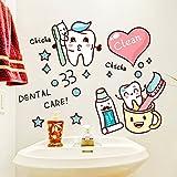 ALLDOLWEGE Die modernen Zimmer sind herrlich cartoon Wall Sticker Bad Dusche Bad Fliesen Pinsel Kunst Glas Tür Aufkleber selbstklebende Tapete, niedlich putzen Tipps