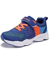 Chaussure de Course Sport Walking Shoes Running Compétition Entraînement Chaussure à la Mode , Sneakers Basket Chaussure Scolaire l'école pour Garçon et Fille Enfant (31, Blue#1)