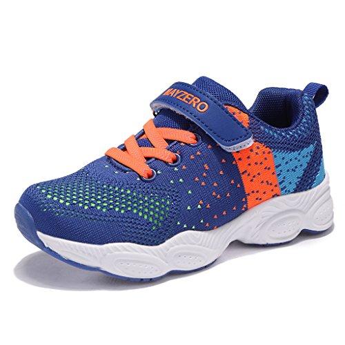 MAYZERO Bambina Scarpe da Ginnastica Ragazzo Ragazza Scarpe Unisex Kids Scarpe da Corsa Leggera in Mesh Atletico Leggero per Ragazzi Ragazze Sneaker (28 EU, Blu#1)