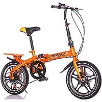 LETFF Bicicleta Plegable para Adultos de 20 Pulgadas para niños con Amortiguador de Velocidad Variable Bicicleta