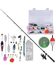 vidaXL Kit de pêche avec lancer télescopique 2,1 m et moulinet