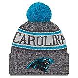 New Era Carolina Panthers Beanie NFL 2018 Sideline Sport Graphite Knit Blue/Grey - One-Size
