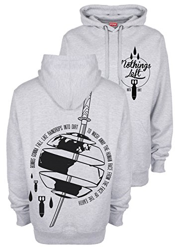 nothings-left-into-dirt-hoodie-kapuzen-sweatshirt-heathergrey-hardcore-m