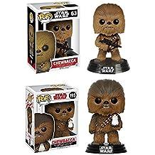 Funko POP! Star Wars: Chewbacca (The Force Awakens) + Chewbacca (The Last Jedi) - Vinyl Bobble-Head Figure Set NEW