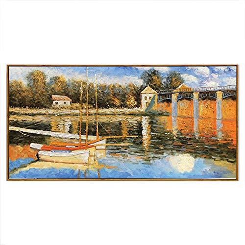 Gbwzz Reines handgemaltes Ölgemälde Impressionistisches Ölgemälde Landschaftsmalerei, 30 × 30 cm