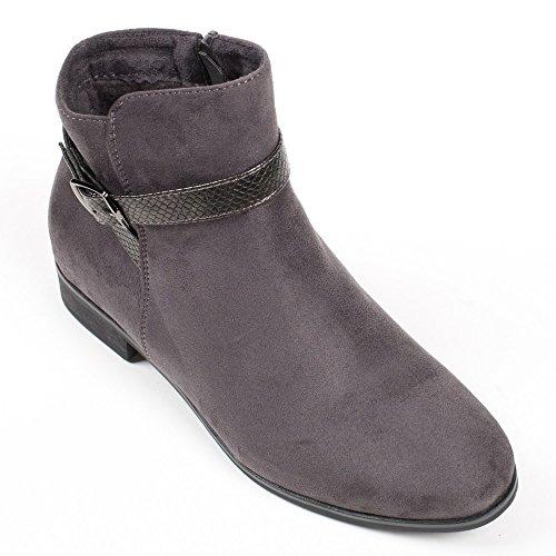 Cinza Boots Ideais E Sapatos Botas Ankle w8xnq0YX4