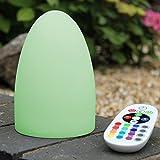 LED Stimmungslampe Nachtlicht Stimmungslicht - 15cm Ei Lampe Deko mit Farbwechsel, Akku, Fernbedienung von PK Green