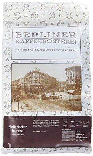 Berliner Kaffeerösterei Sizilianischer Espresso 1000g, ganze Bohne, 1er Pack (1 x 1 kg)
