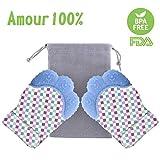 Forweilai Forweilai 2St.Silikon Wasserdicht Beiß Handschuh Schmerzlinderung Zahnen Handschuh Teething Mitten für Babys - (Blau)