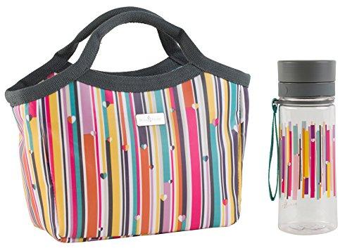 beau-elliot-insulated-handbag-picnic-lunch-bag-with-hydration-bottle-grey-linear-73435-73437