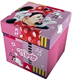 Star Licensing Disney Minnie Pouf Contenitore con Cuscino, Multicolore, 32x32x32 cm