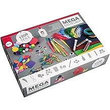 RAYHER HOBBY Megajuego de manualidades (para niños y niñas). El juego de iniciación incluye pegamento para manualidades–en práctica caja para organizar, 1200piezas