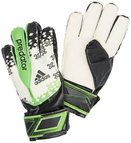 Predator Adidas Torwart Handschuhe Pro (adidas Kinder Torwart Handschuhe Predator Fingersave Junior, Schwarz/Weiß, 8, G73418)