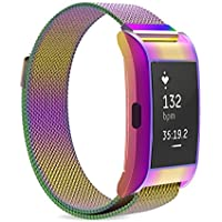 MoKo Milanese Loop Stainless Steel Bracelet Smart Watch Strap + Frame Housing for 2016 Fitbit Charge 2 Heart Rate + Fitness Wristband Parent.