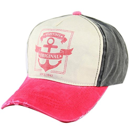 Belsen Damen Vintage Maritime Baseball Cap Snapback Trucker Hat (rosa)