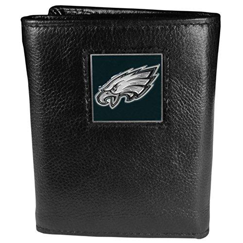 Siskiyou Gifts Co, Inc. NFL Herren Geldbörse Leder dreifach gefaltet, Herren, Philadelphia Eagles, One Size Fits All (Eagles Geburtstag Philadelphia)