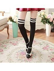 Vollter Las rodillas muchacha de las mujeres del terciopelo del otoño fina sobre medias largas de las medias Calcetines