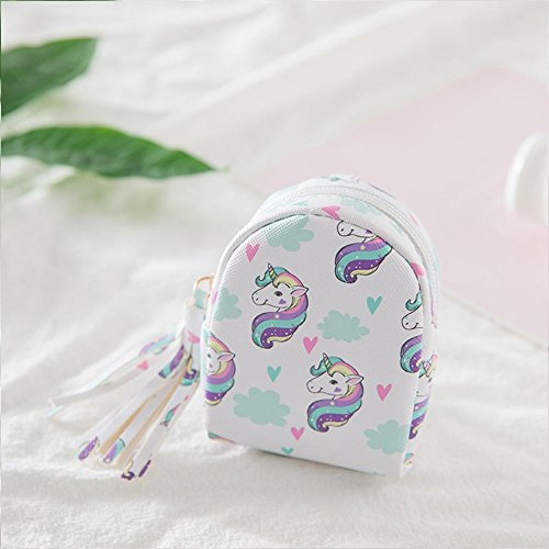 NewStarts Mujeres Lindas Mini Monedero Unicornio Cartera