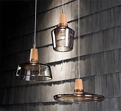 Lh&Fh Loft Retro Cluster industriel Bar Lustre en verre Globe abat-jour Lumière suspendu au plafond Suspension lumière ,