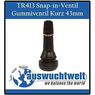 TR413 Ventil Gummi Ventile Reifenventil Kurz Snap-in 100 Stück Schlauchlos Ventile PKW 42mm