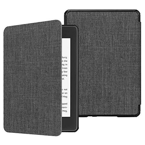 Fintie Hülle für Kindle Paperwhite (10. Generation - 2018) - Die dünnste und leichteste Schutzhülle Tasche mit Auto Sleep/Wake Funktion für Amazon Kindle Paperwhite eReader, Stoff dunkelgrau