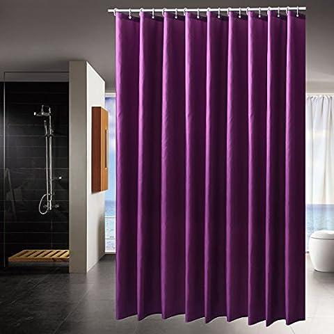 Salle de Bain Imperméable Rideau de Douche tissu anti moisissure 120x200 violet