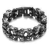 BOBIJOO Jewelry - Enorme Gros Bracelet Homme Chaîne de Moto Acier INOX Vieilli XXL...