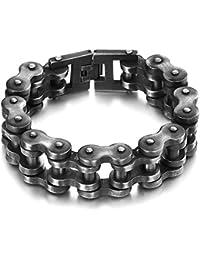 843d6e074b01 BOBIJOO Jewelry - Enorme Gros Bracelet Homme Chaîne de Moto Acier INOX  Vieilli XXL Biker 22mm