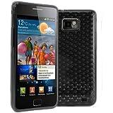 Fundas de Gel Silicona para Samsung Galaxy S2 i9100 y S2 Plus i9105 P - Color Negro semitransparente