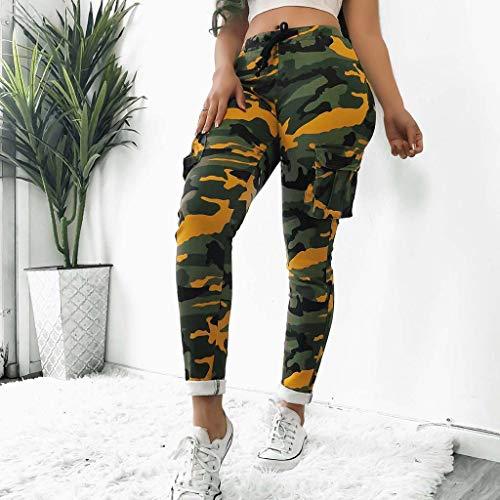 Elsta Damen Casual Hip Hop Hose Yogahose Tanzhose Camouflage Bedruckte Lässige Haremshose Mädchen Jogger Trainingshose Casual Sport Camo Cargo Hosen - Tailored Dress Chino