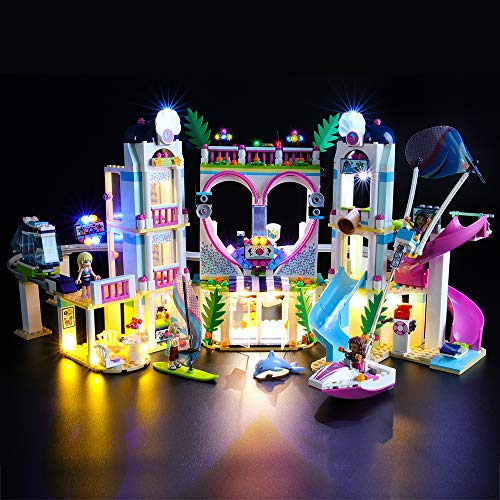BRIKSMAX Kit de LED pour Lego Friends Le Complexe Touristique d'Heartlake City,Compatible avec la Maquette Lego 41347, La Maquette de Construction n'est Pas Incluse