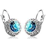Shining Diva Blue Platinum Plated Crysta...