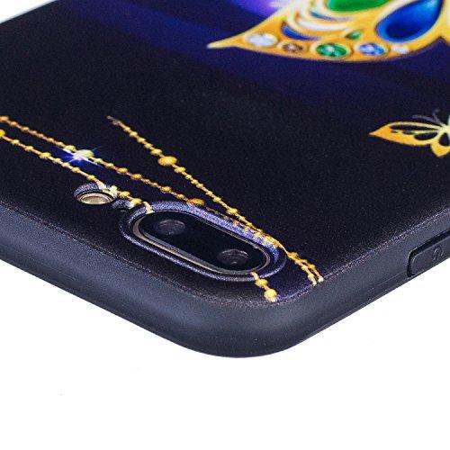 Cover per iPhone 5s, CLTPY iPhone SE Custodia Morbido Flessibile TPU Slim Protettivo Case Coprire con il Design Creativo di Lusso per Apple iPhone 5/5s/SE + 1x Stilo - Fiore Rosa Collana di Farfalla doro