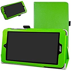 "Acer Iconia One 7 B1-780 / B1-790 Coque,Mama Mouth Slim Folio PU Cuir debout Fonction Housse Coque Étui Couverture pour 7"" Acer Iconia One 7 B1-780 / B1-790 Android Tablette,Vert"