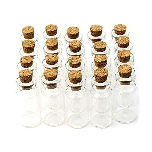20x Glasfl?schchen / Mini Glasflasche Korkenflaschen Spundflaschen ca. 5ml