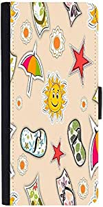 Snoogg Abstract Summer Background Designer Protective Phone Flip Case Cover For Htc Desire-626G