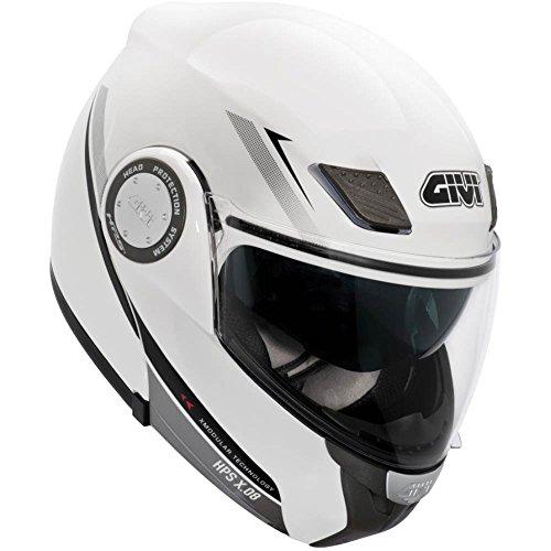 Givi HX08FB91059 Hps Hx08 X-Modular Casco Modular, Color Blanco Grafico, Talla 59/L
