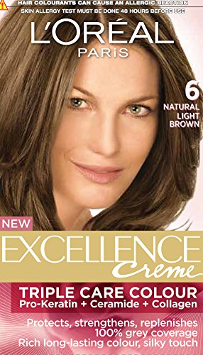 L'Oreal Paris Excellence Creme, Light Brown 06(72ml+100g)