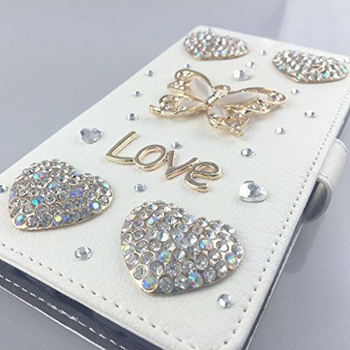 Locaa(TM) Pour Apple IPhone 7 IPhone7 (4.7 inch) 3D Bling Case Coque 3 IN 1 étuis Cuir Qualité Housse Chocs Étui Couverture Protection Cover Shell Phone Amour Love [Générale 1] paon Volant